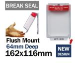 Tamper Evident Break Seal Flush mounted call point cover (C530) red
