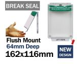 Break Seal Flush mounted press to exit button cover (C530) green