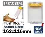 Break Seal Flush mounted emergency power switch cover (C530) yellow