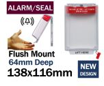 Alarmed Tamper Evident Break Seal Flush mounted call point cover (C532) red