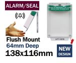 Alarmed Break Seal Flush mounted press to exit switch cover (C532) green