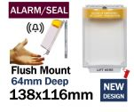 Alarmed Break Seal Flush mounted power switch cover (C532) yellow