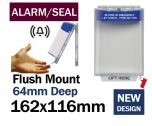 Alarmed Break Seal Flush mounted power switch cover (C532) blue