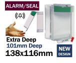 Alarmed Break Seal Extra Deep press to exit button cover (C533) green