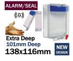 Alarmed Break Seal Extra Deep power cut off button cover (C533) blue