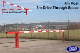 Traffic Controller boom barrier system with integrated support arm 4metres