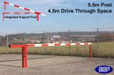 Traffic Controller boom barrier system with integrated support arm 5.5metres