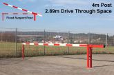 Traffic Controller boom barrier system with fixed support post 4 metres