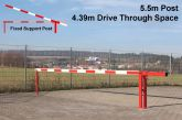 Traffic Controller boom barrier system with fixed support post 5.5 metres