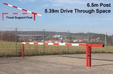 Traffic Controller boom barrier system with fixed support post 6.5 metres