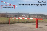 Traffic Controller boom barrier system with fixed support post 7 metres