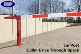Compact Gas Damper Assisted boom barrier system 2.38 metres