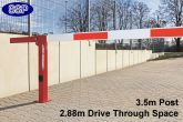 Compact Gas Damper Assisted boom barrier system 2.88 metres