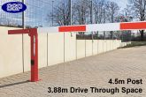 Compact Gas Damper Assisted boom barrier system 3.88 metres