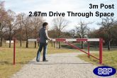 Locking Smooth Swing Barrier and support posts 3 metres