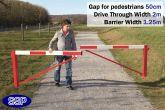 Pedestrian Friendly Smooth Swing Barrier Gate 2 metres