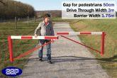 Pedestrian Friendly Smooth Swing Barrier Gate 3 metres