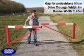 Pedestrian Friendly Smooth Swing Barrier Gate 4 metres
