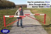Pedestrian Friendly Smooth Swing Barrier Gate 5 metres