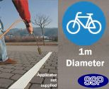 Large Cycle path thermoplastic marking