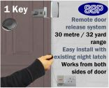 Wireless Key Fob Door Entry System (Home/Disabled/Office) 1 Key Only