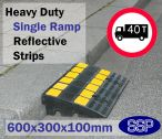 Reflective Rubber Heavy Duty Car Kerb Ramp for Scooters and Bikes