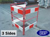 Pedestrian Safety Barrier | Man hole and lift barrier (3 sides)