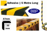 Large Right Angle Dense Foam Edge Protection (5 metres roll) Sticky backed