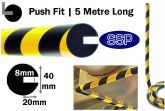 Circular Push Fit Bump Protection Foam (5 metres long) for beams, girders and RSJs