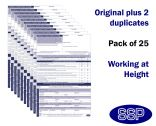 Working at Height Permit To Work Self Duplicating Forms Pack of 25