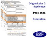 Excavation Permit To Work Self Duplicating Forms Pack of 25