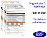 Hazardous Substances Permit To Work Self Duplicating Forms Pack of 100
