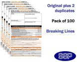 Breaking Lines Permit To Work Self Duplicating Forms Pack of 100
