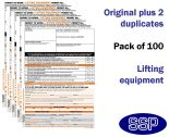 Lifting Equipment Permit To Work Self Duplicating Forms Pack of 100