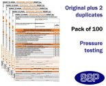 Pressure Testing Permit To Work Self Duplicating Forms Pack of 100