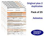 Asbestos Permit To Work Self Duplicating Forms Pack of 25