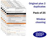 Window Cleaning Permit To Work Self Duplicating Forms Pack of 25