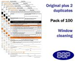 Window Cleaning Permit To Work Self Duplicating Forms Pack of 100