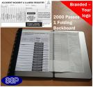 2000 Accident, incident and illness authorisation slips and register One colour