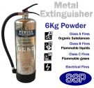 Metal stainless steel ABC powder fire extinguisher (6kg)
