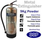Metal stainless steel ABC powder fire extinguisher (9kg)