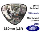 SSP Triangular Security Mirror for small shops, post offices and off licences (330mm)