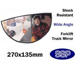 Forklift Truck Curved Spatial Awareness Rear view Safety Mirror