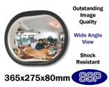 Discrete Convex Office and Shop Wall Mounted Security and Safety Mirror (365mm wide)