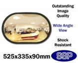 Discrete Large Convex Office and Shop Wall Mounted Safety and Security Mirror (525mm wide)