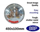 Compact Wall Mounted 360 degree Panoramic Wide-Angle Mirror (450mm diameter)
