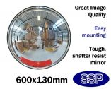 Compact Wall Mounted 360 degree Panoramic Wide-Angle Mirror (600mm diameter)