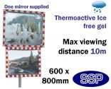 Thermo-Active Ice Free Traffic Mirror 600x800mm