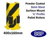 Racking Guard (Standard Height) U Profile With Rollers