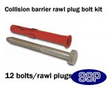 Rawl Fixing Bolt kit for Collision Barrier Corners